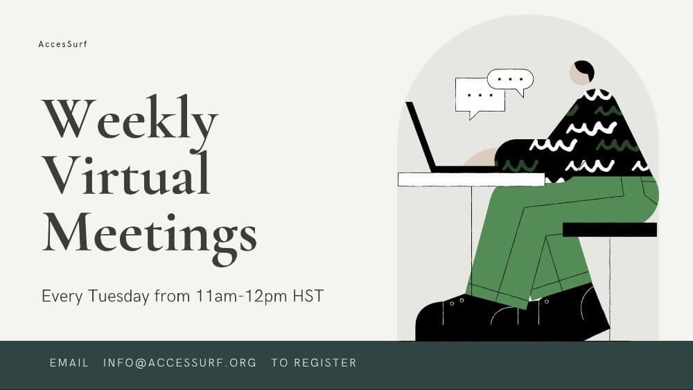 weekly virtual meeting flyer