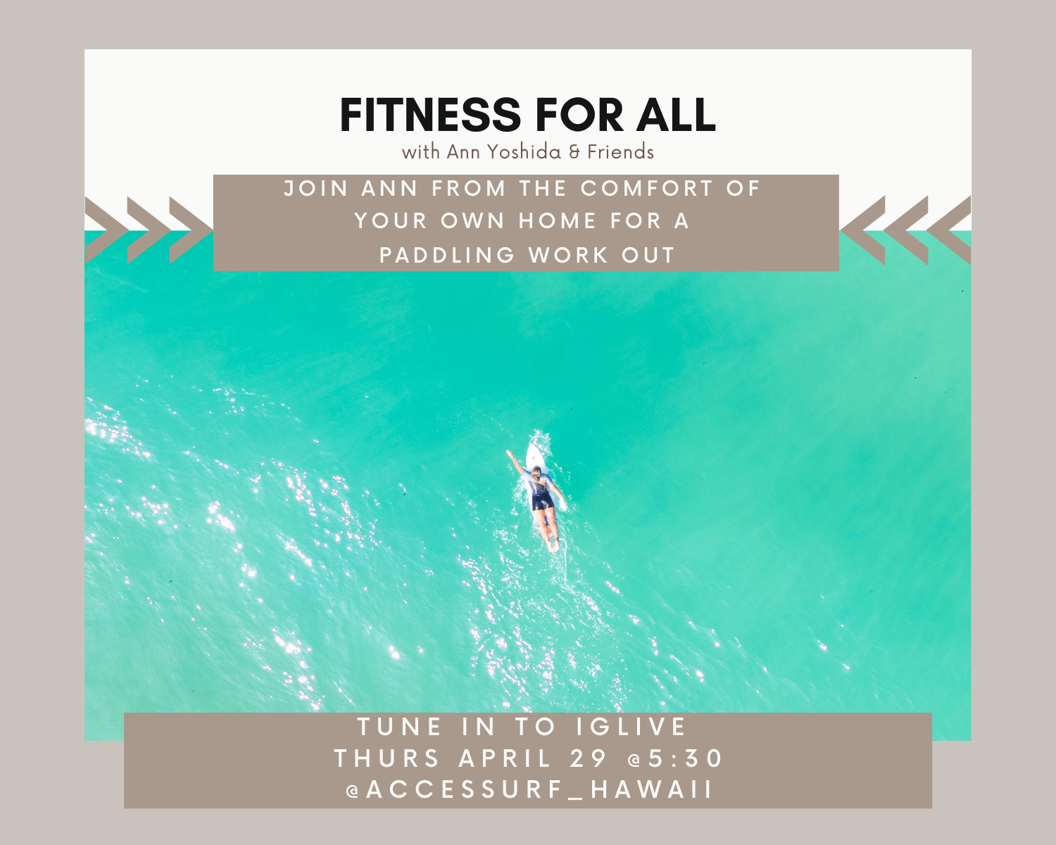fitness for all flyer paddling workout