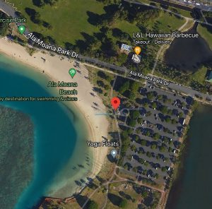 Ala Moana Beach Park Map