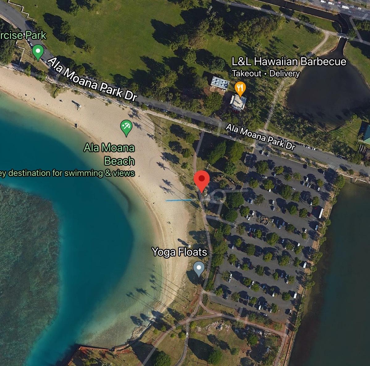 Ala Moana Beach Park Map